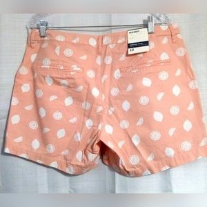 Old Navy Shorts - Old Navy Women's Shorts Sz 12 Peach With Lemons